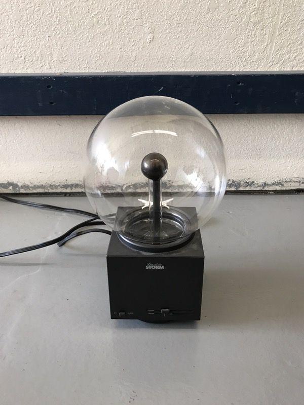 Vintage Eye Of The Storm Nikola Teslas Lightning Plasma Globe Ball Lamp