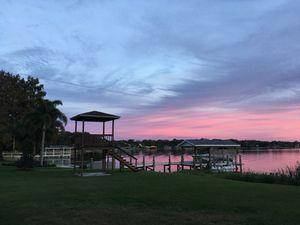 Lake Conway Orlando Pink Sky