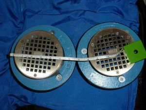"Zurn Industries Drain #9 5"" Z9A-FD2 -5 Plumbing Floor Clean out Z9"