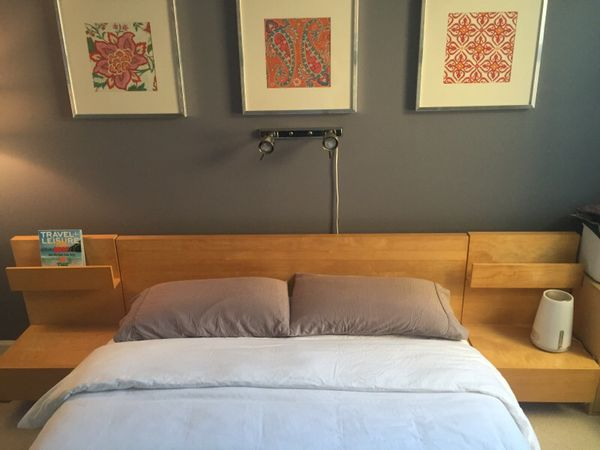Ikea Malm Queen Bed Frame With Matching Nightstands Furniture In Chicago Il Offerup