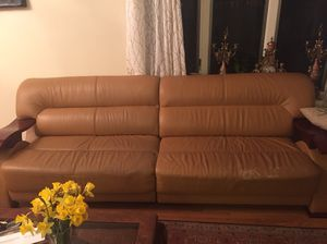 Sectional leather sofa $150