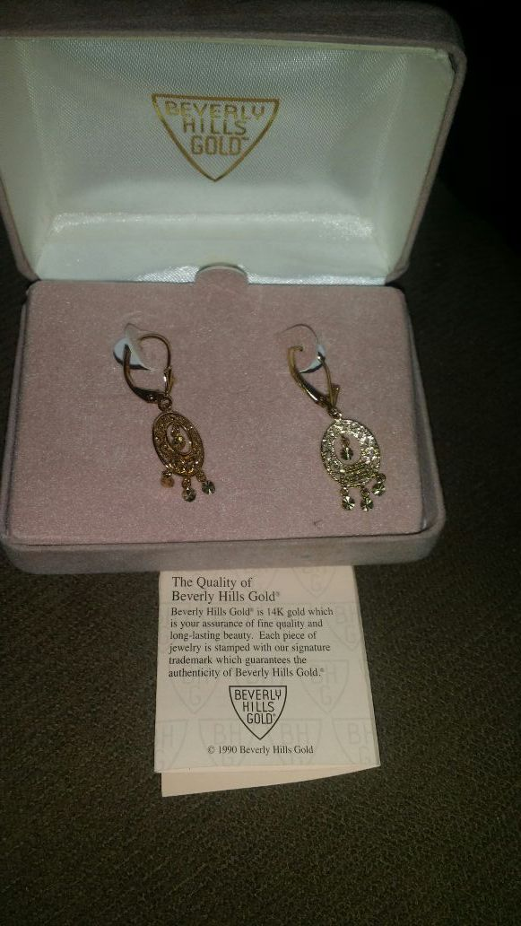 Real Beverly Hills Gold 14kt Earrings Jewelry Accessories in
