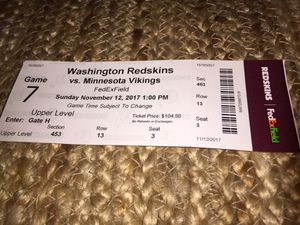 Redskins vs. Vikings