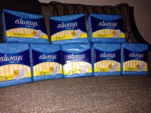 8 Packs of Always MAXI Size 1 Regular. Please See All The Pictures and Read the description