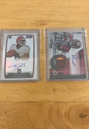 Redskins Jordan reed and Jamison crowder autograph cards will ship and local pickup