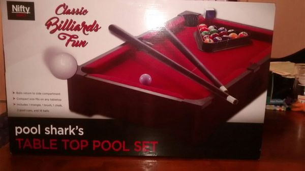 Nifty games pool sharks tabletop pool set (Games & Toys) in Orlando, FL