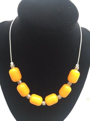 Handmade orange necklace