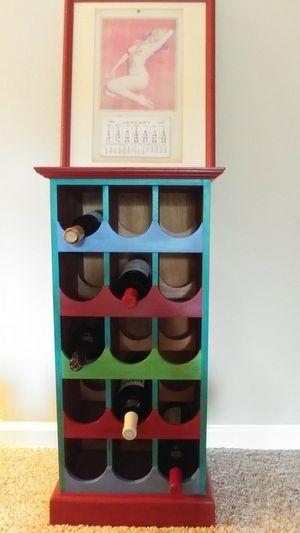 Wooden Hand Painted Wine Rack