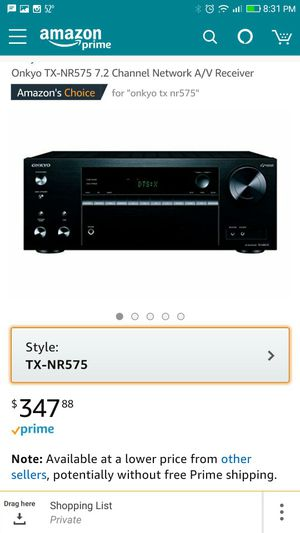 Brand new 4.1 out97Reviews Onkyo TX-NR575 7.2 Channel Network A/V Receiver