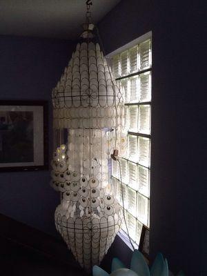 Capiz shell chandelier/hanging lamp