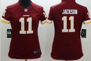 Womens jersey washington redskins Jackson#11 Medium