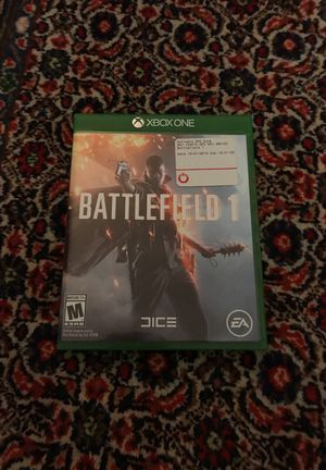 Battlefield 1 disc and box with warranty