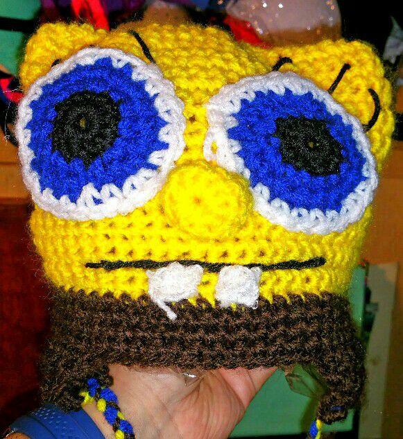 Spongebob Squarepants Crochet Beanie Baby Kids In Los Angeles