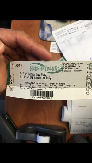 Hershey park tickets x6 (BUNDLE)