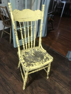 Antique /vintage chair chippy paint