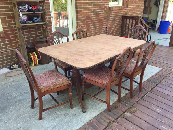 Wood Dining Table 6 Chairs Furniture In Greenville SC