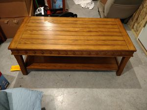 Real wood coffee table & 2 matching end tables