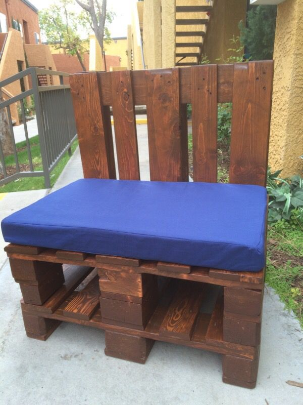 hardwood pallet patio seats with memory foam cushions furniture in