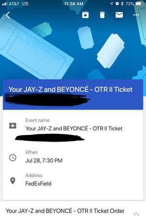 OTRII Beyonce and Jay-Z great tickets great price!!!250