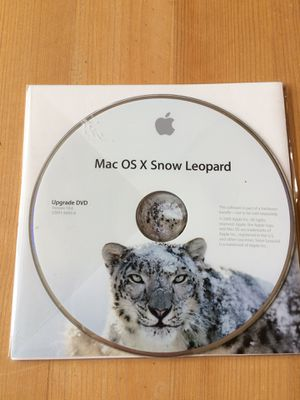 Mac OS X Snow Leopard upgrade DVD
