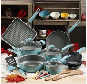 Brand new 30 pcs the pioneer woman cookware combo set
