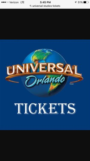In need of 10 tickets for Universal Studios Orlando Florida for Tuesday September 19,2017