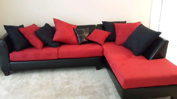 Black And Red Sectional Couch Furniture In Hanover Md Offerup