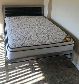 Brand New Full Size Platform Bed + Pillowtop Mattress