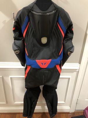 Dainese Laguna Seca D1 Perforated Race Suit Color:Black/Black/Sky Blue Size:48