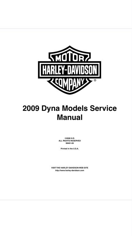 2009 harley dyna service and electrical manuals. Black Bedroom Furniture Sets. Home Design Ideas
