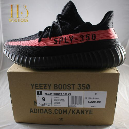 ADIDAS YEEZY BOOST 350 V2 BLUE TINT GREY RED KANYE