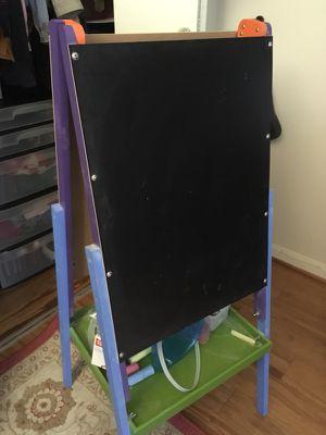 Kids chalkboard and whiteboard easel