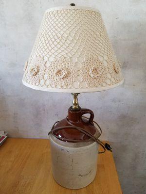 Vintage crock lamp