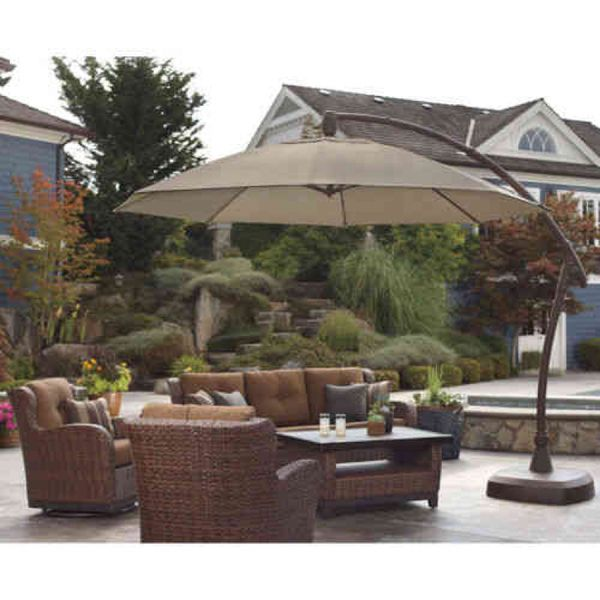 Pro Shade Cantilever Patio Umbrella 11ft (Furniture) In