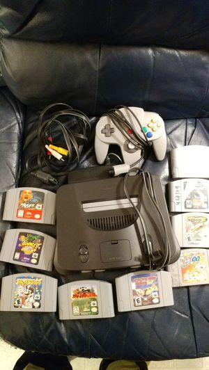 Nintendo 64 with nine Games and One controller