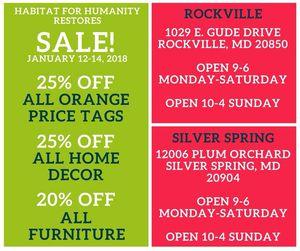Weekend deals at Habitat for Humanity Restore