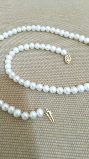 """14k 18"""" Akoya Pearl Necklace"""