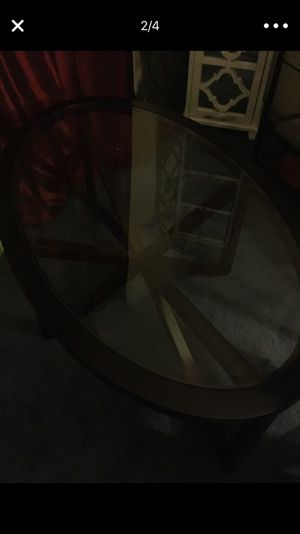 Coffee and end table real wood dark brown brand new