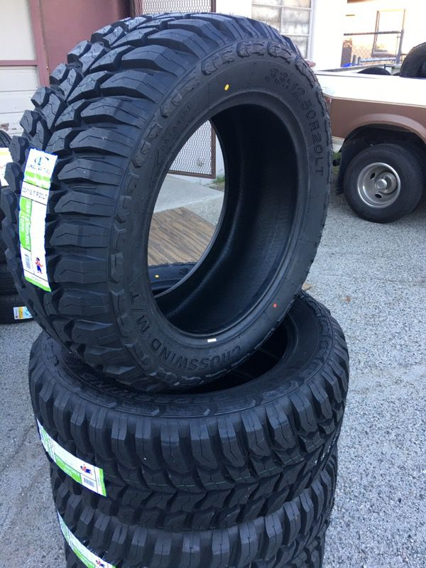 Brand New Set Of 4 33x12 50r20 Crosswind Mt Tires For Sale Cars