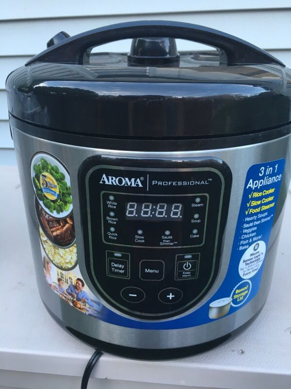 Aroma Digital Rice Cooker Aroma Proffessional 3in1 crockpot/rice cooker/steamer ...