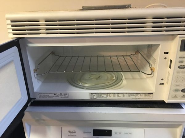 Whirlpool above oven microwave with hood vent and wall - How to vent a microwave on an interior wall ...