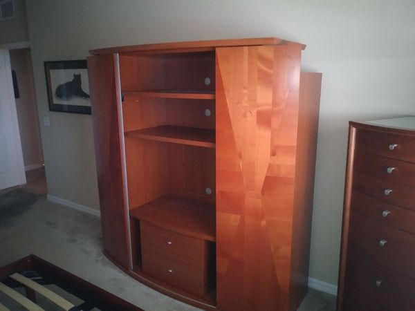 3 piece bedroom set (Queen) Tv wall unit and jewelry box (Furniture ...