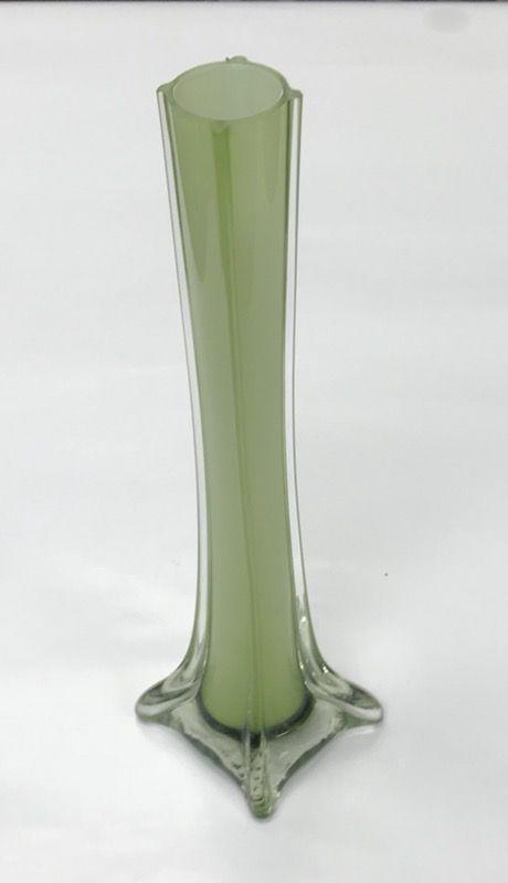 Tall Green Glass Flower Vase Home Garden In Houston Tx