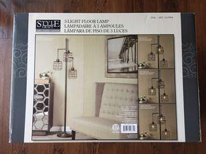 Style Craft 3 Light Floor Lamp