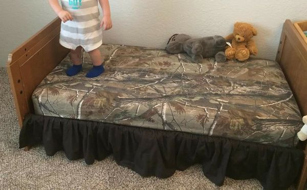 Realtree Ap Fitted Sheet Pillow Case And Bed Skirt Sheet Set For