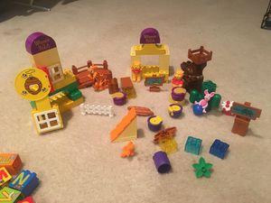 Winnie the poo and fireman brio lego set
