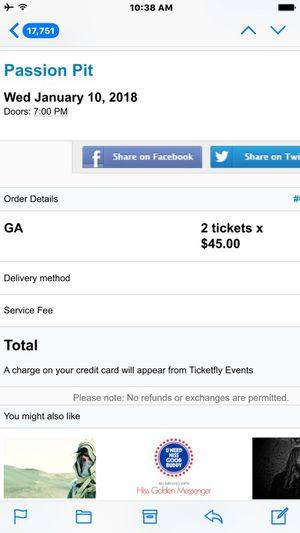 2x passion pit tickets
