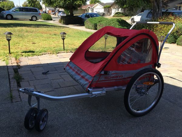 Schwinn Jogger Bike Trailer 2 Seater Sports Outdoors In