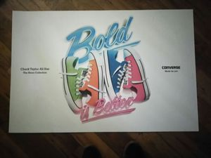 Big converse poster magnetic and laminated vinyl poster