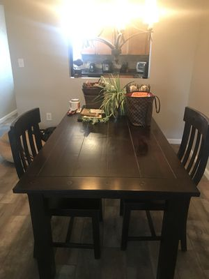 Espresso Wood Dining Room Table Plus 4 Chairs